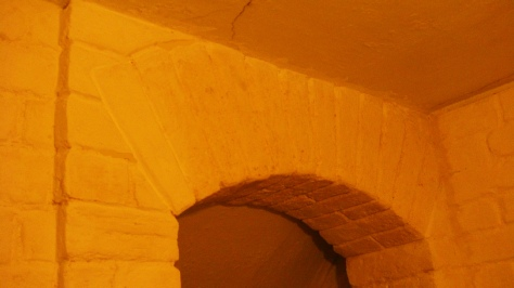 Fitted false brick arch